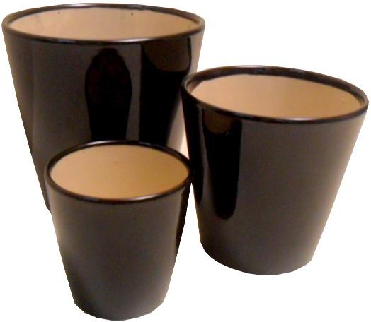 Vasi ceramica smaltati rotondi e ovali per fioristi - Piastrelle 15x15 bianco lucido ...