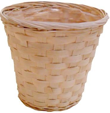 Coprivasi bamboo naturale e vaso rotondo interno plastica for Bambu in vaso prezzo