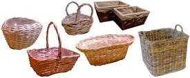 Cestini ciotole vaschette e copri vasi vimini fioristi for Ceste in vimini ikea
