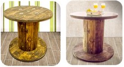 Catalogo arredo negozi con bobine avvolgicavi in legno
