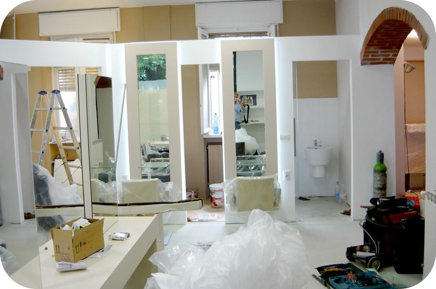 ristrutturazione locali salone bellezza parrucchiere