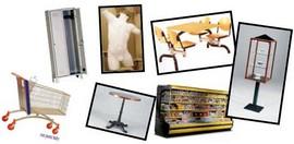 banchi frigo manichini e vetrine tavolini e sedie bar espositori tavoli mensa e carrelli spesa