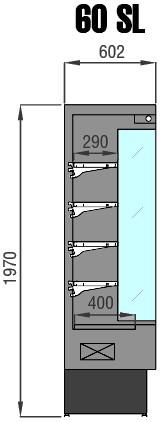 murale frigo prof cm 60 acciaio inox. Black Bedroom Furniture Sets. Home Design Ideas