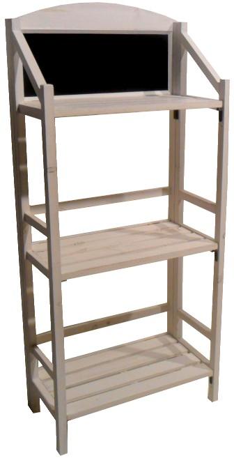 Espositori legno lavagna e piani scalari scaffale scaletta for Scaffale legno bianco
