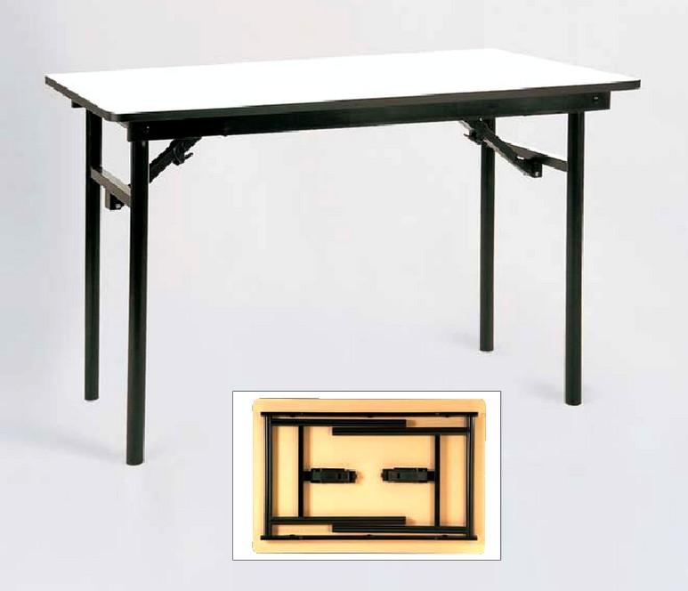 Tavoli pieghevoli t 105 colore piano noce grigio chiaro - Tavoli pieghevoli alluminio ...