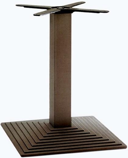 Base rettangolare ghisa verniciata tubo quadro colonna bar for Costo del solarium per piede quadrato