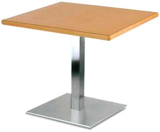 Base tavoli piastra quadrata tubo quadro cromo pasticceria for Costo del solarium per piede quadrato