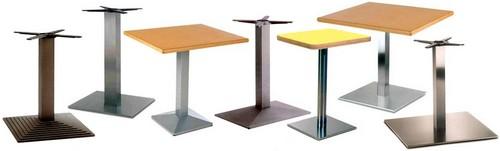 basi ghisa cromate inox per tavoli tavolini bar ristoranti