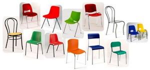 Sedie impilabili economiche mensa tavoli comunità design