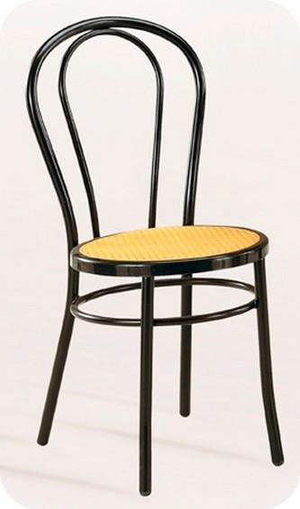 sedia metallo tipo thonet sedile paglia Vienna per bar