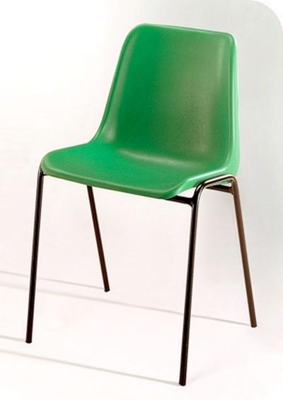 sedia plastica ignifuga attesa e sala conferenza impilabile