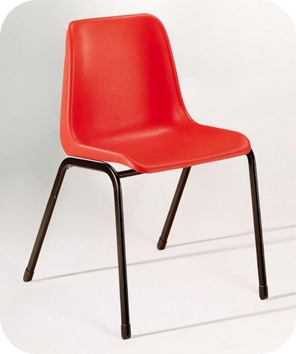 sedia impilabile scocca plastica ignifuga attesa