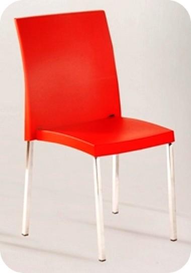 Prezzo sedie impilabili in metallo cromato scocca plastica for Sedie impilabili plastica