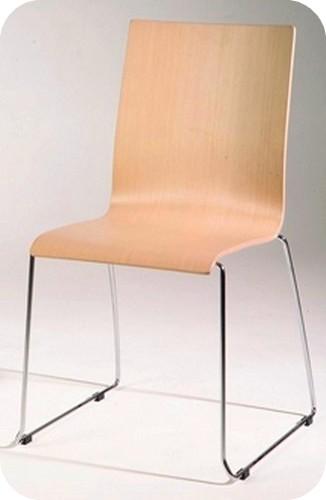Sedia bar autogrill mensa sedile legno faggio o laminato for Sedie acciaio e legno
