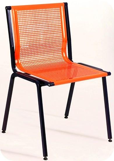 sedia metallo sedile lamiera forata bar sala attesa uffici