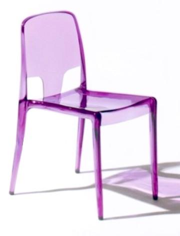 sedie plastica trasparente colorate sala thè bar gelaterie