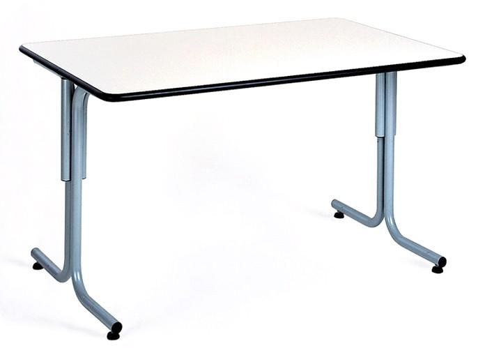 tavolo smontabile servizio sala mensa gambe tubo piano legno