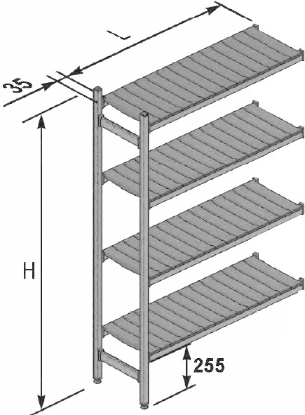 Scaffalature In Alluminio.Listino Prezzi Sezioni Scaffalature Alluminio