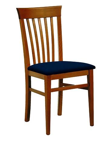 sedie in legno massiccio con sedile imbottito