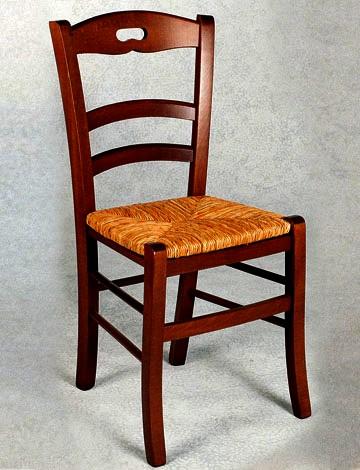 Sedia in legno massello di faggio for Sedie impagliate prezzi