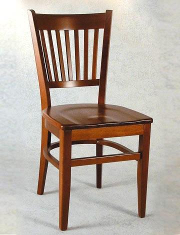 Sedia in legno massello con sedile anatomico in legno for Sedie in legno massello prezzi