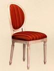 poltroncina per restaurant con sedile e schienale imbottito 161