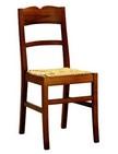 sedia rustica in legno e paglia 206