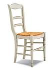 sedia in legno verniciata in bianco anticato 180