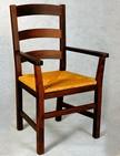 sedia con braccioli e sedile paglia 244