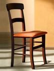 sedia in legno con imbottitura in tessuto 176