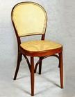 sedie per bar con schienale e sedile in paglia di vienna 105