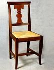 sedie in legno con seduta in paglia 129