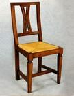 sedia in legno con sedile impagliato 132