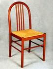 sedia in legno con sedile in paglia 69