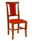 sedie in legno con sedile e schienale imbottito 81