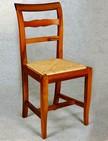 sedia in legno con sedile in paglia 131