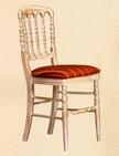 sedia in legno con verniciatura anticata 162