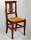 sedia in legno economica con sedile in paglia 142