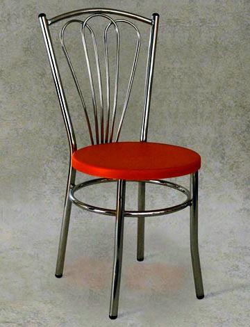 Sedia in metallo con sedile imbottito in tessuto - Tavoli e sedie in plastica ...