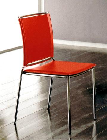 Sedia moderna in cuoio for Sedie in cuoio