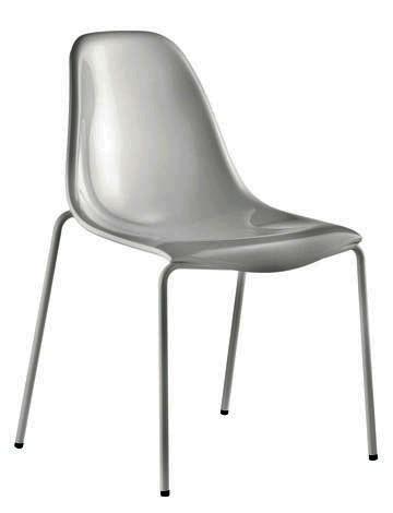 Sedia in policarbonato colorato e trasparente per bar for Sedie in policarbonato trasparente
