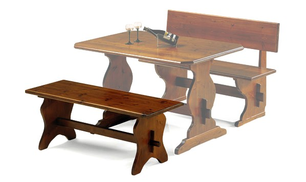 Panche fratino legno massello pino tavoli pizzerie - Panche e tavoli in legno per pub ...