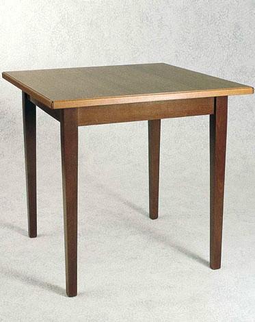 Tavoli con top in legno quadrato o rettangolare for Costo del solarium per piede quadrato