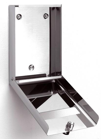 Porta veline carta copri water in acciaio lucido serratura for Accessori bagno acciaio inox
