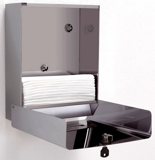 Porta salviettine carta acciaio inox accessori bagni - Accessori bagno ufficio ...