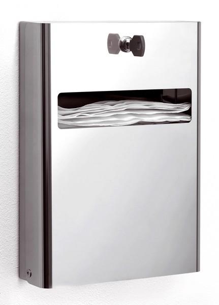Porta veline carta copri water in acciaio lucido serratura - Accessori bagno inox ...