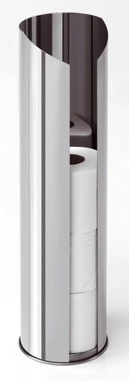 Porta rotoli carta igienica in tubo acciaio inox - Porta carta igienica ...