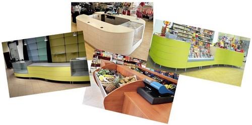banchi vendita per negozi frutta verdura abbigliamento cartoleria
