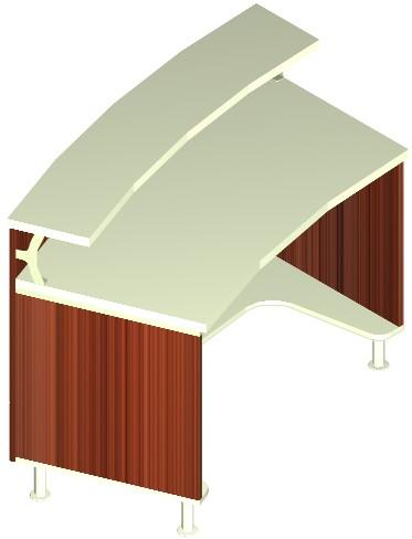 Banchi vendita laminato non alimentari piano top frontale for Reception scrivania