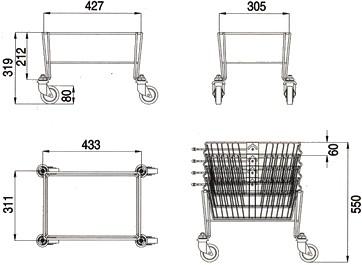 porta cesti cestini cestelli ceste spesa supermercato ferro